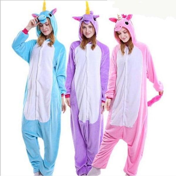 フランネル動物の寝間着天馬の漫画は、ユニコーンパジャマの衣装を浴びた冬の暖かい漫画の睡眠