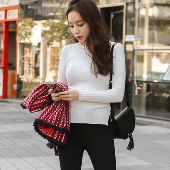 ホワイト・フォックスwhitefoxの好み狙撃パンヤパンヤ・ニット ニット/セーター/ニット/韓国ファッション