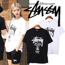 【zeross]ステューシーのロゴ半袖Tシャツ男女共用from ship korea