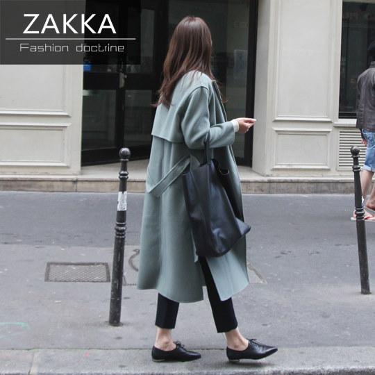 【送料無料】【即納】 人気 新型 ZAKKA 2016 韓国ファッション コート トレンチコート ブラウス コート レディース ロングコート 韓国 コート レディース服 モッズコート