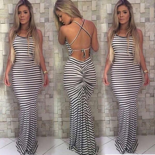 女性のセクシーな夏のドレスBohoマキシロングイブニングパーティードレスビーチドレス