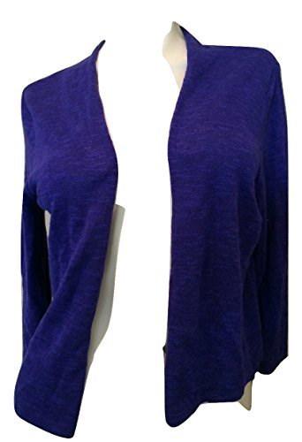 Eileen Fisher Open Crop Cardigan Blue Violet Petite Large
