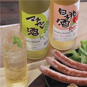 清酒リキュール「白桃酒」「マスカット酒」飲み比べ
