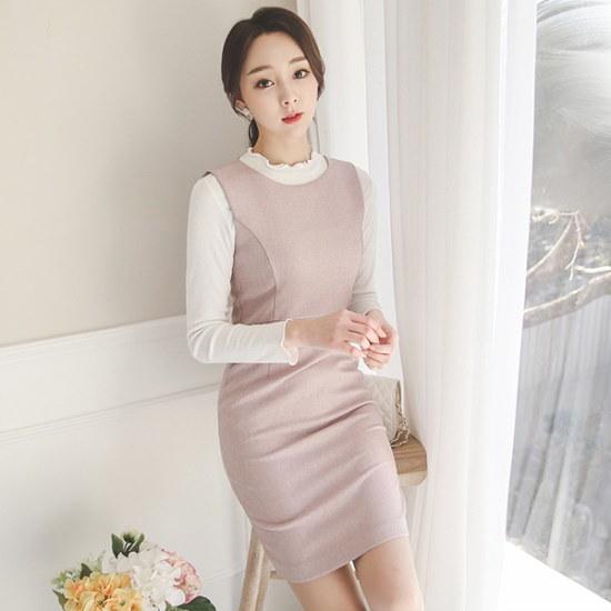 オッドフォーマルHラインワンピースDRI064 スーツワンピース/ 韓国ファッション