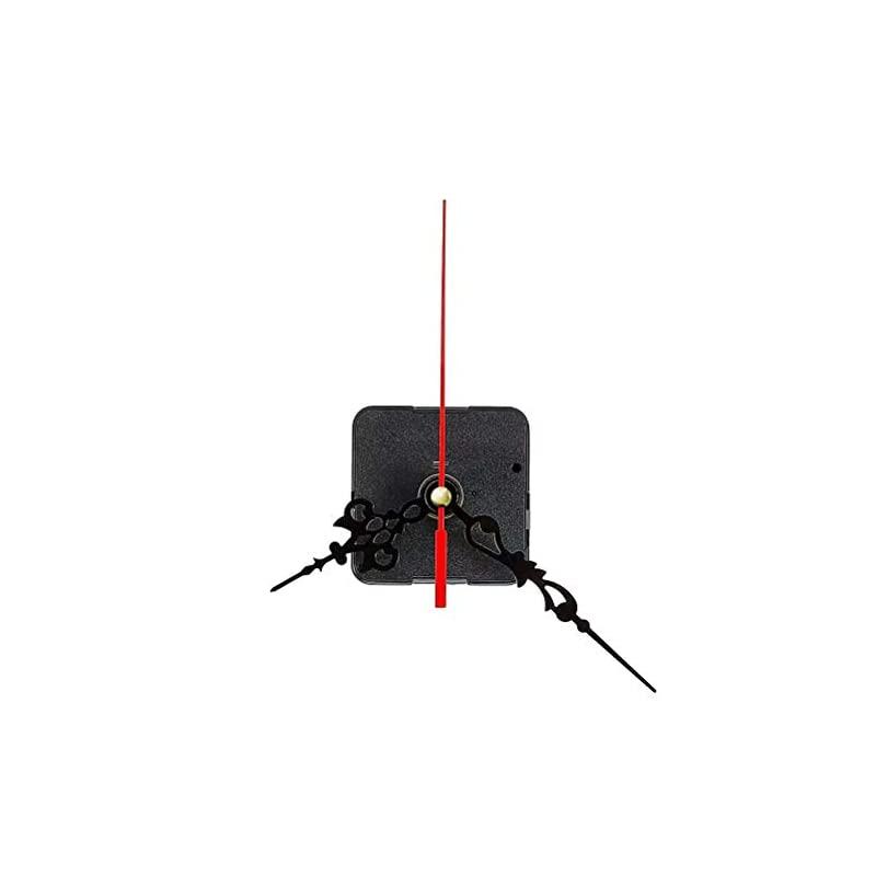 【即納】Doyeemei 時計ムーブメントクォーツムーブメント 3つのポインターセット時計 ムーブメント 手作り 掛け時計用 クロックDIY補修部品 (赤い針)