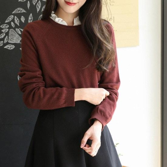 チェリーココbourree、knitC709PHKN69基本ニット泣く秋長い腕ナグランH ニット/セーター/韓国ファッション