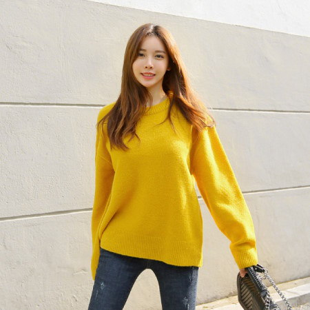 [Tom n Rabbit] Hanon round knit round knit basic knit plain knit knit daily korean fashion trend k-f