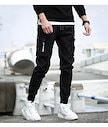 韓国ファッション★スキニージーンズ ★スキニーパンツ 鉛筆パンツ★カジュアルパンツ★メンズ パンツ 着瘦せ 9分ジーンズ★ ジーパンサロペット 4type 8色