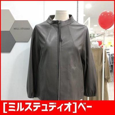 [ミルステュディオ]ベーシック革ジャケット(LKALJ912GY6/グレー) /デニムジャケット/ジャケット/韓国ファッション