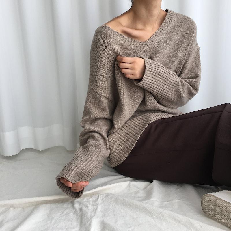 [ラルム】マークVのニット3col korea fashion style