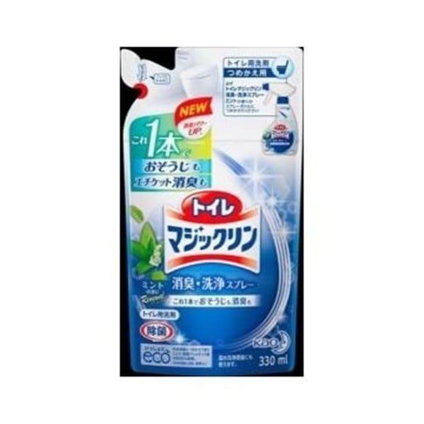 トイレマジックリン 消臭・洗浄スプレー ミントの香り つめかえ用 330ml