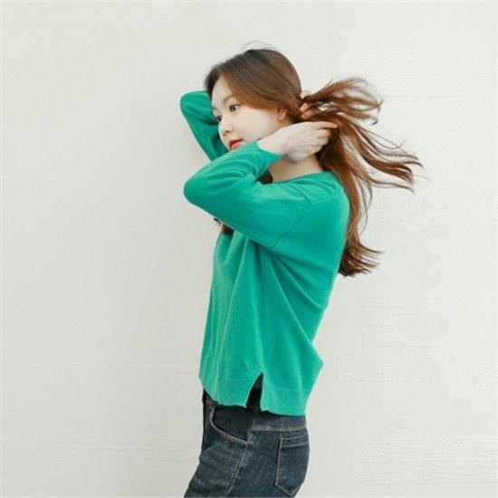 スタイルベリー行き来するようにスタイルベリーmerinowoolのカシミヤラウンドニット ニット/セーター/ニット/韓国ファッション