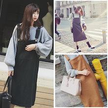 新製品 チェック サロペットスカート シングルピース女 ワンピース、ドレス
