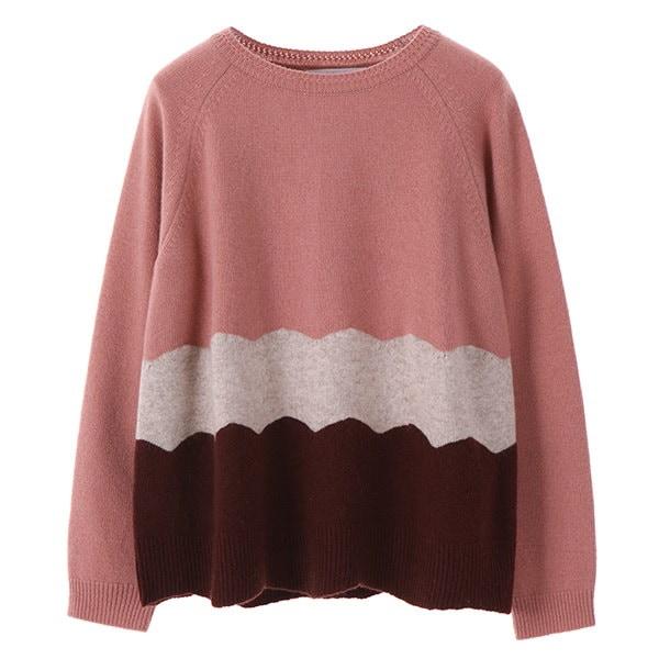 [韓国直送] 【オリーブデオリーブ] coloring wave wool knit OK7WP844