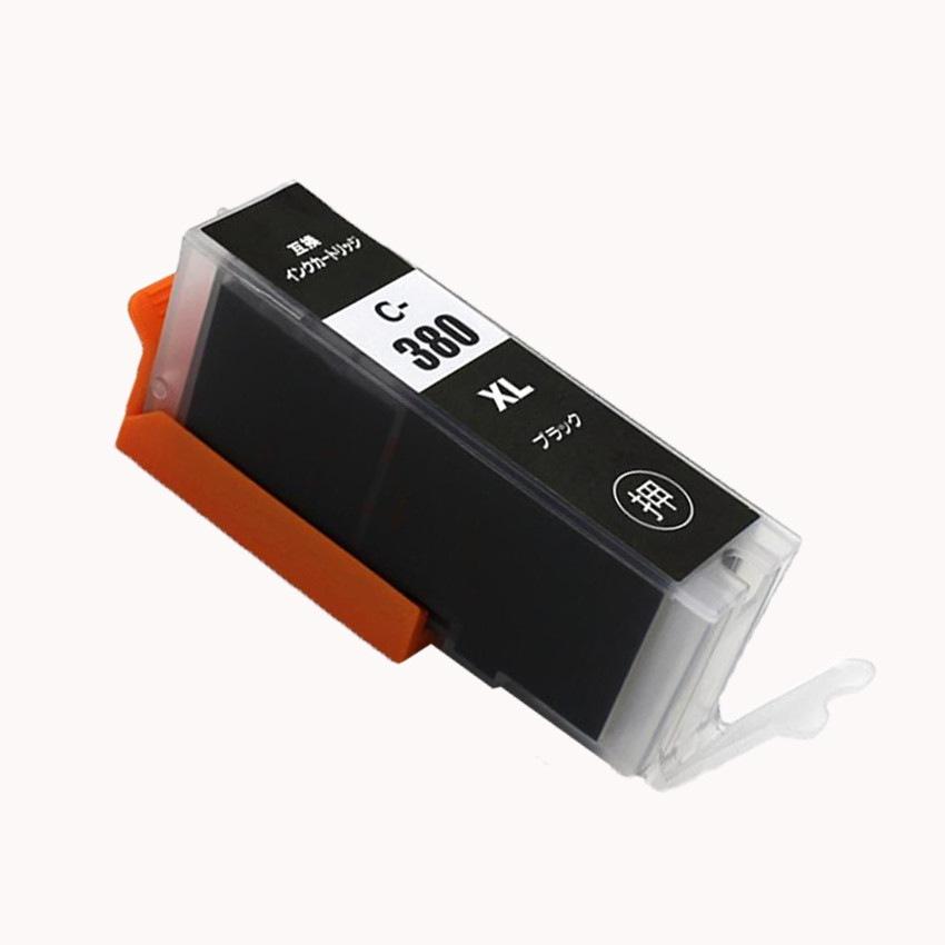 BCI-380XLBK 単品 ブラック キャノンプリンター用互換インクタンク CANON社 ICチップ付 残量表示