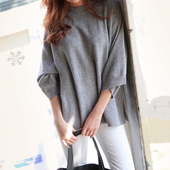 二十歳足す二十歳足すカシミヤboxnt ニット/セーター/ニット/韓国ファッション