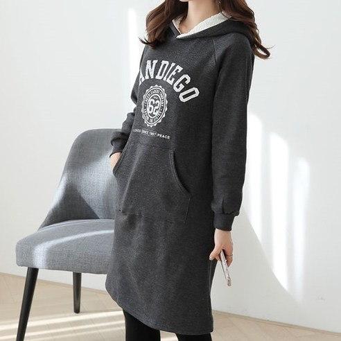 [ClicknFunny] San Diego Brushed One Piece OP4352 Midi Dress (Knee Length) Korean fashion style