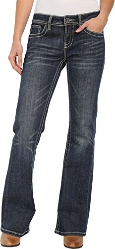 Stetson Womens 816 Classic Fit Bootcut Jeans Denim 8 L