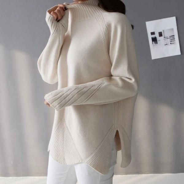 ブランド納品バンポルライージーモダンニート2colornew 女性ニット/カーディガン/タートルネックニット/韓国ファッション