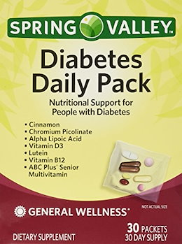 (Spring Valley) Spring Valley Diabetes Daily Pack, Supports General Wellness, 30 Packets