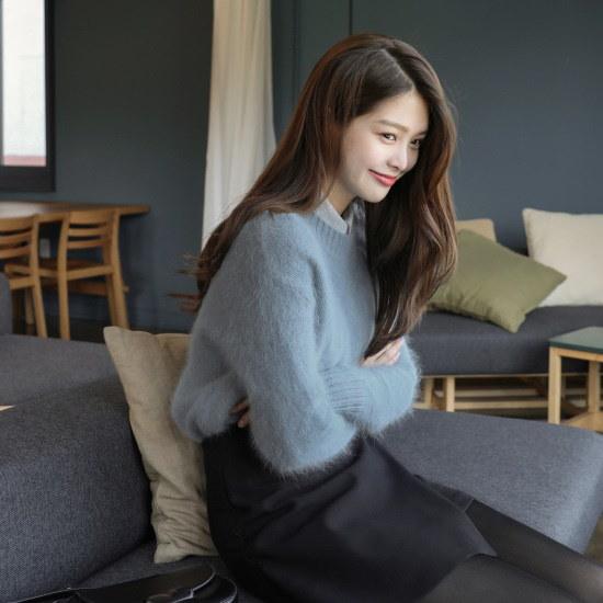 チェリーココivonne、knitC709PAKN1アンゴラニット会社レイヤードN125 ニット/セーター/韓国ファッション