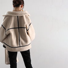 送料無料 レディース アウター コート ジャケット 大きいサイズ オーバーサイズ レザー パイピング ステンカラー ボア clf029