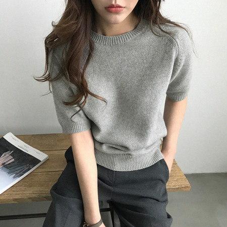 モルディン半袖ニットkorean fashion style