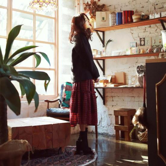 デイリー・マンデーSlit sleeve wool knitスリットスルリブウル・ニット ニット/セーター/ニット/韓国ファッション