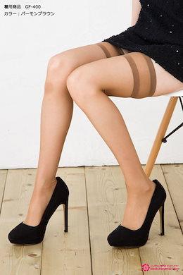 ガーターフリーストッキング (しめつけないウーリータイプ )(つま先補強・足型セット)) ガーターストッキング ♪ ニーハイストッキング シアータイツ garter stockings tights ladies