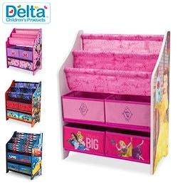 デルタ Delta 本棚&おもちゃ箱 子供部屋 収納ラック キッズ 絵本 子供用 オーガナイザー 収納 ボックス お片付け インテリア キャラクター