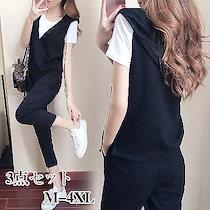更新されました❤韓国ファッション 可愛い Tシャツ+ズボン 運動服 夏 カジュアル セット 上下セット ジャージ レディース スポーツウェア セットアップ FANT754