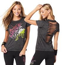 新着アイテム ZUMBA (ズンバ) LOVE Tシャツフィットネスウェア ダンスウェア ヨガウェア トレーニングウェア ZU1602