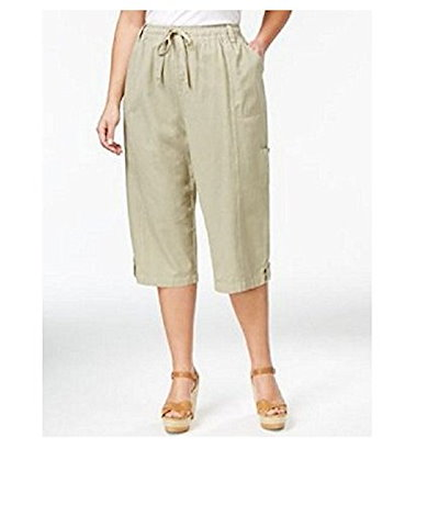 Karen Scott Pull On Capri Pants Willow XS
