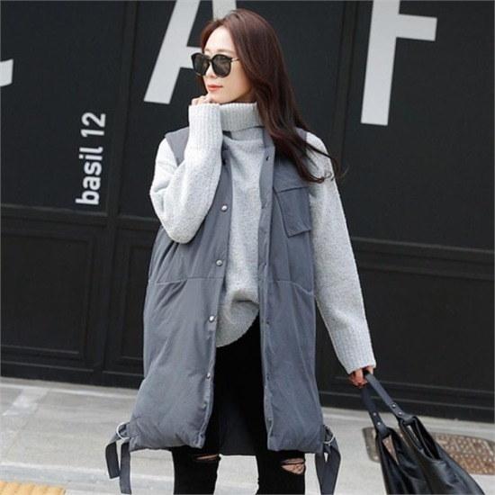 シーフォックス行き来するようにシーフォックスアディクリバーシブルパディングベスト ベセチュウ / ニット・ベスト/ 韓国ファッション