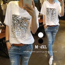 【19Type】大人気 Tシャツ半袖 レディース パースTシャツ 韓国ファッション カジュアル 着瘦せ効果 生地純綿 超高品質トップス 大きいサイズ  -YAON75-