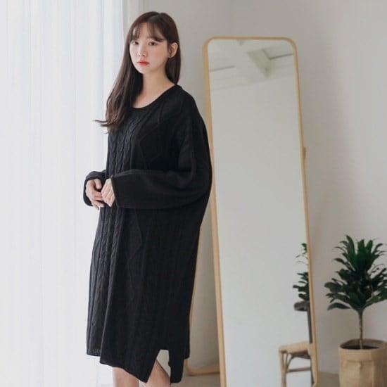 ロロテンデビルランロング・ニット ニット/セーター/ニット/韓国ファッション