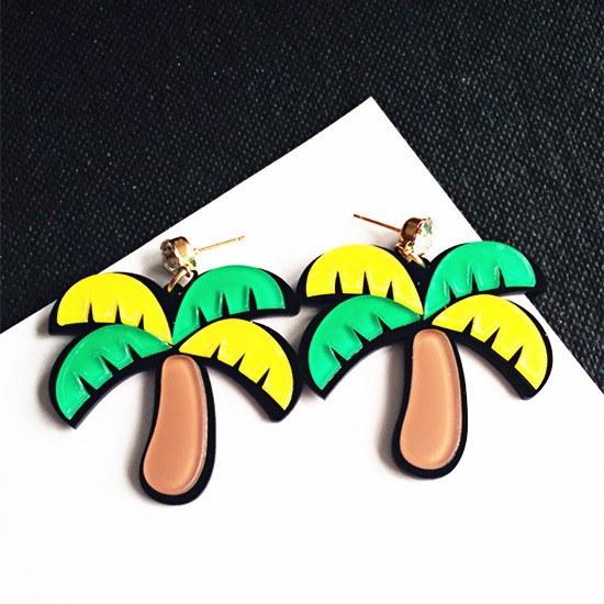 夏のビーチ凹面形状のジョーカーのイヤリング女性のヒップホップファッションyakeli誇張されたイヤリングorna