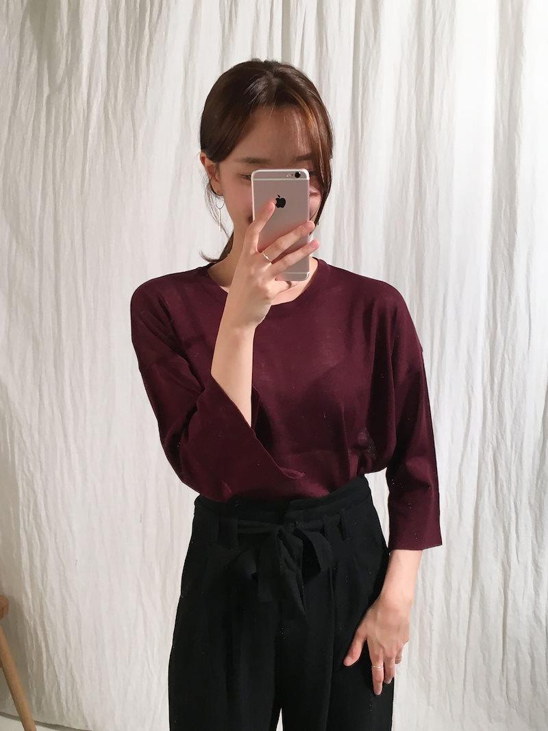 ポーリンズカブラスリットニットkorea fashion style