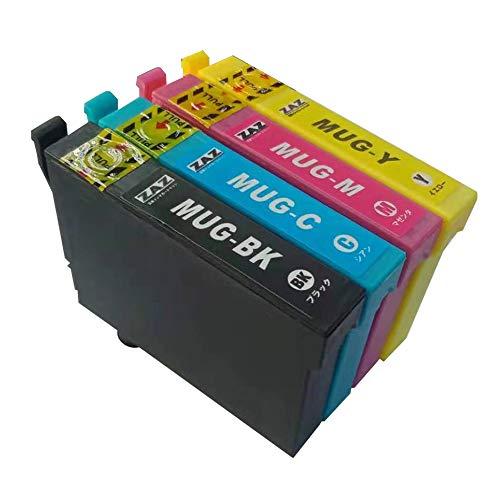 MUG-4CL ZAZ 互換 インクカートリッジ MUG 4色セット (MUG-BK/MUG-C/MUG-M/MUG-Y ) ICチップ付 マグカップ 互換 MUG インクタンク カートリッジ