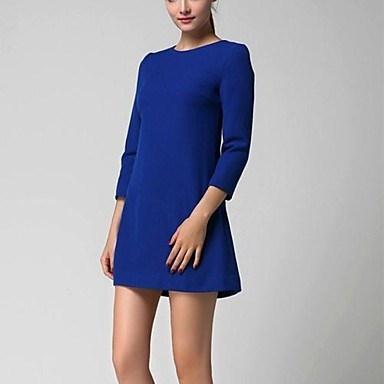 女性のプラスサイズ春と秋のドレス
