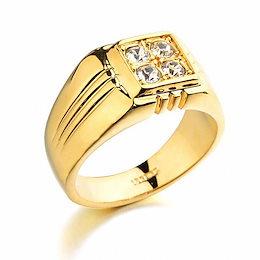 男性のためのブランドTracysWingリング本物のオーストリアのクリスタル18KRGPゴールドカラーファッション結婚指輪#RG90044