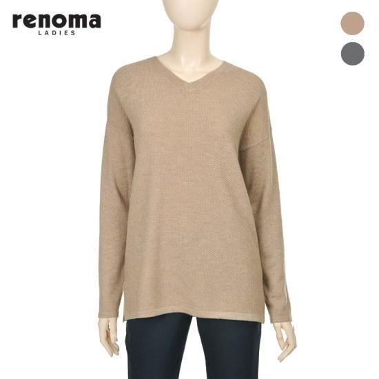 【レノマレディース】ウールVネックニット_CW12KP010 ニット/セーター/ニット/韓国ファッション
