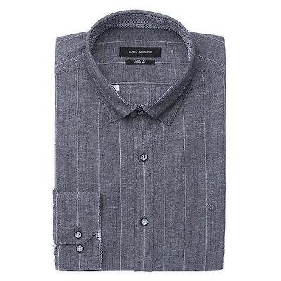 ルイカトルズ [AK公式ストア]【louisquatorze SHIRTS】スリムフィットシャツ(Q9143C)グレー