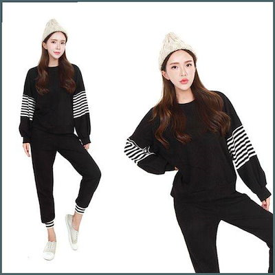 [Hスタイル](CM)ヨウコラウンドセット/女性トレーニングセット/ジャㅡジ /トレーニング上/ スウェットパンツ/韓国ファッション
