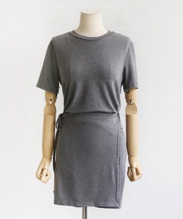 チョンチョンハンスリムフィットラップスタイルベーシックスパンミニワンピース30435デイリールックkorea women fashion style