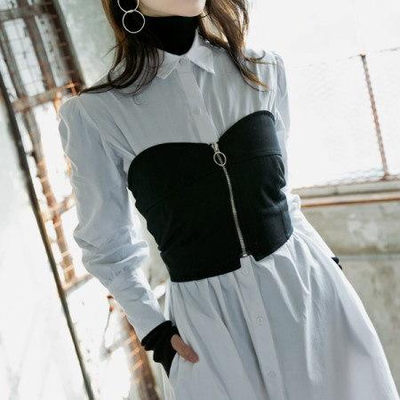 【ディントゥ] E1662ブログコルセット重ね着塔korea fashion style