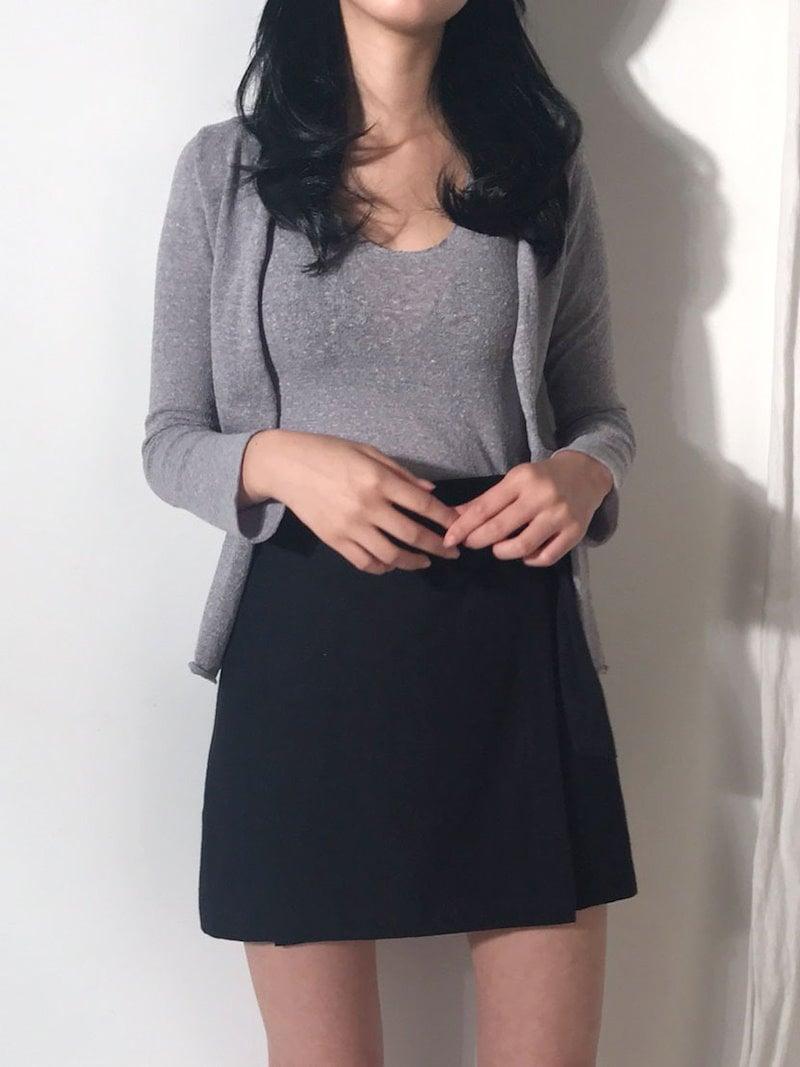 チャンスボカシナシカーディガンセットkorea fashion style