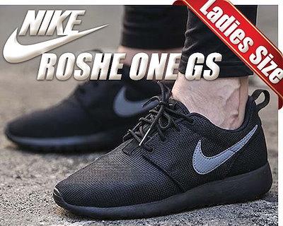 【ナイキ スニーカー ローシワン レディースサイズ】NIKE ROSHE ONE GS blk/cool grey【ランニングシューズ】