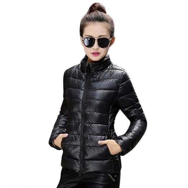 8色の女性暖かいウルトラライトコットンブレンド長袖ジッパージャケット生き抜くコート