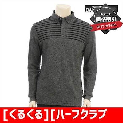 [くるくる][ハーフクラブ/ぐるぐる]男女部分の縞模様のカラーティシャツ検定 /タートルネック/ポルラティーシャツ / / 韓国ファッション